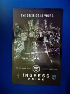 Ingress Prime unlock your mind protect humanity The Decision is yours Poster